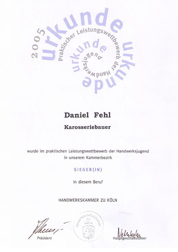 Daniel Fehl Karosseriebauer