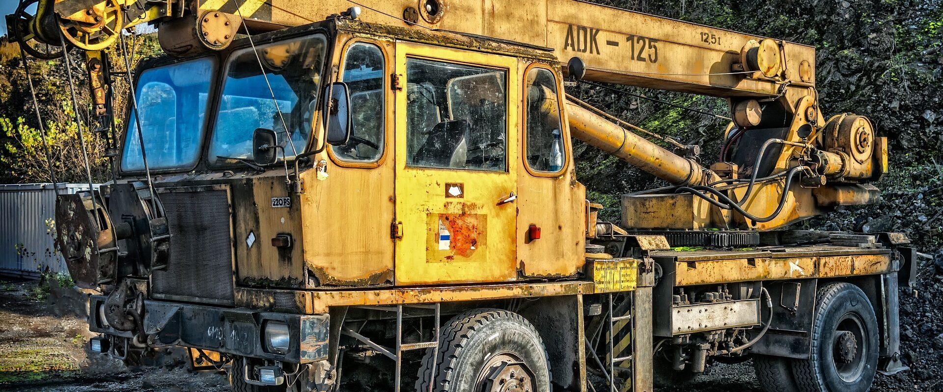 gelber Autokran, Sonderfahrzeug